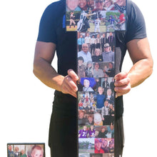 Load image into Gallery viewer, 36 Inch Custom Sports Number or Letter Photo Collage for Senior Night - collageandwood
