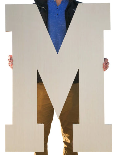 36 Inch Unfinished Wooden Letters and Wooden Numbers - collageandwood
