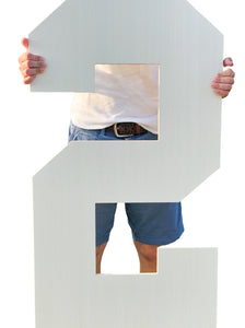 42 Inch Unfinished Wooden Letters and Wooden Numbers - collageandwood