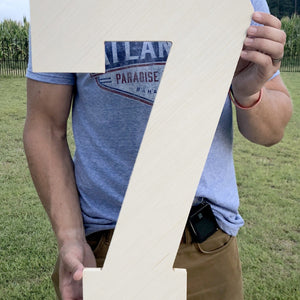 24 Inch Unfinished Wooden Letters and Wooden Numbers, Giant Numbers, Big Letters, 2 Foot Letters