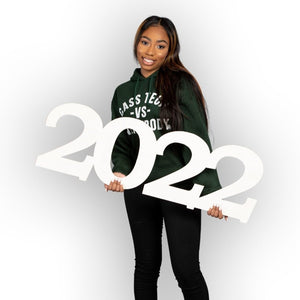 Giant 2022 Wooden Senior Photo Prop Numbers, 36 inches. - collageandwood