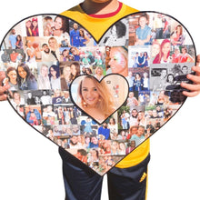 Load image into Gallery viewer, Giant Heart Collage, Valentine's Gift, Galentine's Gift - collageandwood