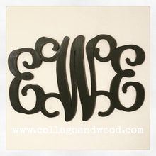 Load image into Gallery viewer, Personalized Wooden Vine Monogram Letters - collageandwood