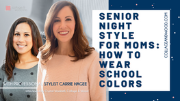 Crystal from collageandwood.com and Carrie from storytellerstylist.com discuss how to wear school colors