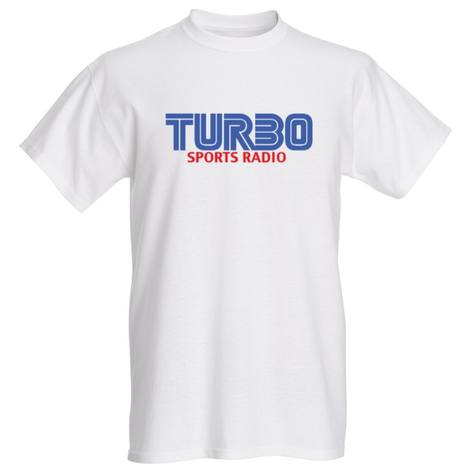 TURBO SPORTS RADIO BLUE LOGO T-SHIRT
