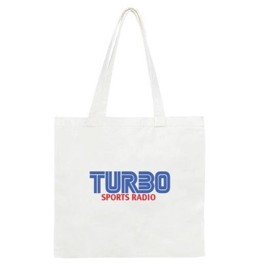 TURBO SPORTS RADIO BLUE LOGO TOTE BAG