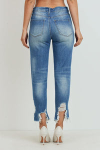 High-Rise Girlfriend Jeans (Color Medium - Back View)