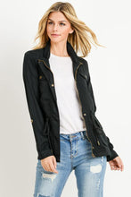 Load image into Gallery viewer, Light Weight Tencel Anorak Jacket (Color Black - Angle View)