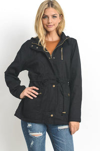 Anorak Jacket with Faux Fur Lining - GREY MARKET