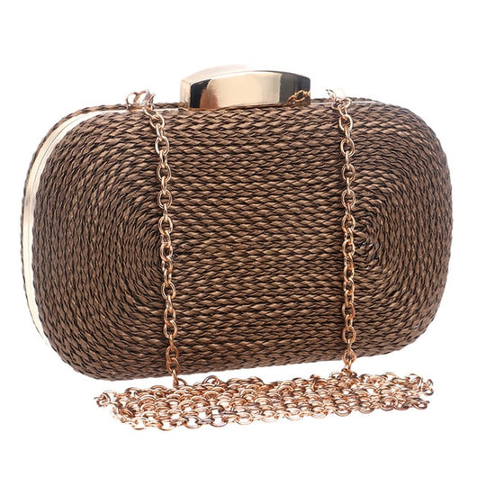 Knitted Style Vintage Metal Day Clutches