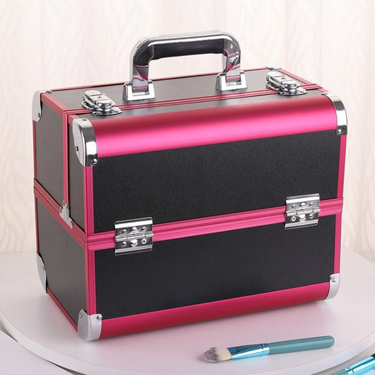 Portable Professional Cosmetic Bag Suitcases For Cosmetics Large Capacity Women Travel Makeup Bags Box Manicure Cosmetology Case