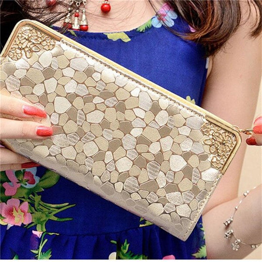 2020 new womens purses and handbags bags girls famous brand long women leather wallet female evening clutch purses Card Holder