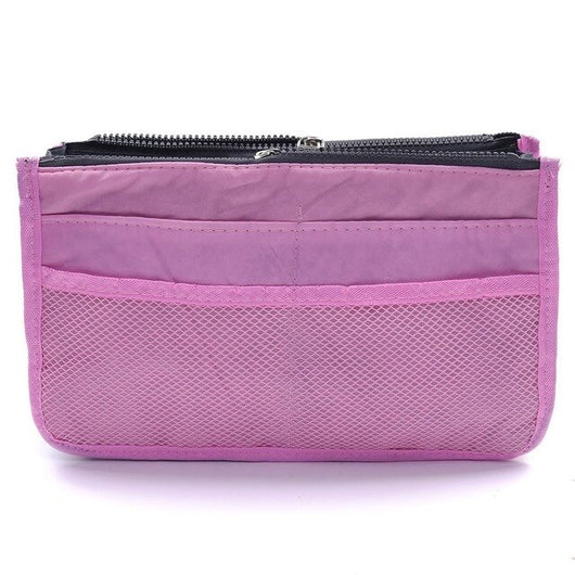 Makeup Bag Case Organizer Insert Bag Women Nylon Travel Handbag Large liner Lady Make up Cosmetic Bag Female Wash Toiletr