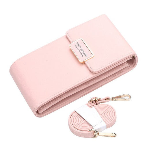 2019 New Women Casual Wallet Brand Cell Phone Wallet Card Holder Coin Purse Straps Handbag Clutch Bag Messenger Shoulder Bags