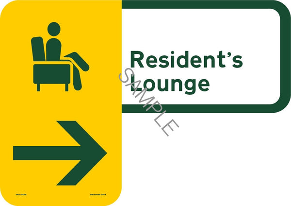 Resident's Lounge Sign (Custom)