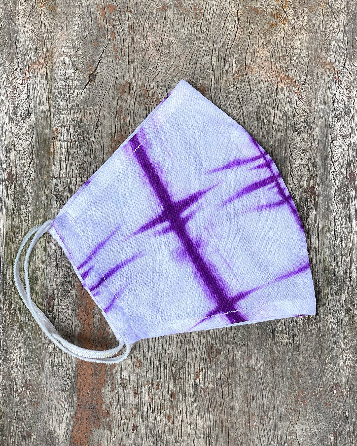 Purple Tie Dyed Face Mask