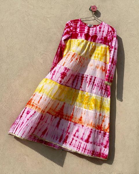 Dreaming of Summer Tie Dyed Prairie Frock