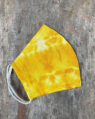 Yellow Tie Dyed Face Mask