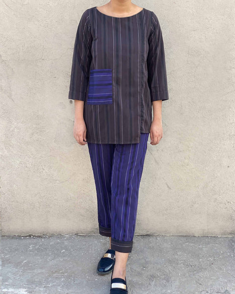 On the Straight & Narrow Cotton 2-Piece