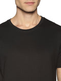 URBAN CREW NECK PLAIN TSHIRT - JET BLACK