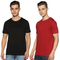 SOLID PACKS URBAN COMBO - 2 TSHIRTS PACK | JET BLACK + BLOOD SCARLET