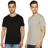 SOLID PACKS URBAN COMBO - 2 TSHIRTS PACK | JET BLACK + PEARL GREY