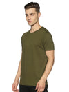 URBAN CREW NECK PLAIN TSHIRT - OLIVE GREEN
