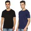 SOLID PACKS URBAN COMBO - 2 TSHIRTS PACK | JET BLACK + OCEAN BLUE