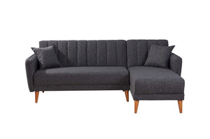 Aqua Corner Sofa Bed, Anthracite Grey