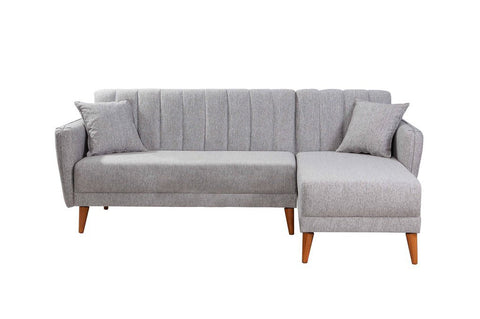Aqua Corner Sofa Bed,  Grey
