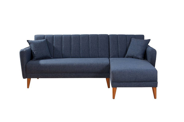 Aqua Corner Sofa Bed, Navy Blue