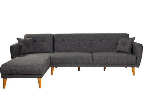 Aria Corner Sofa Bed, Anthracite Grey