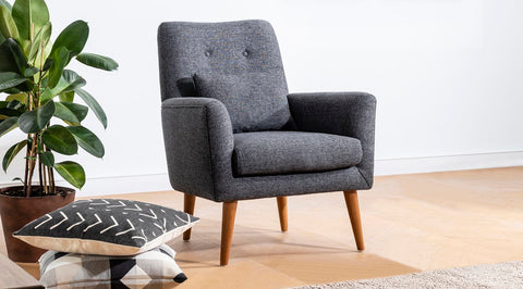 Zeni Armchair, Anthracite Grey