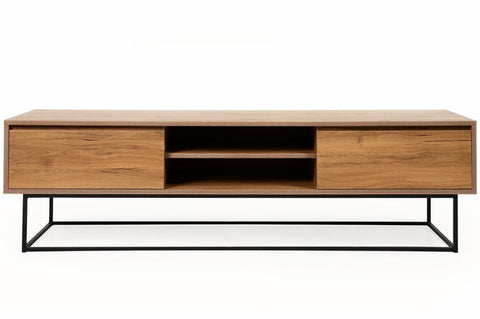 Laxus Wide TV Unit, Walnut