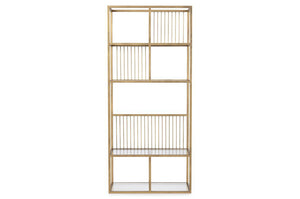 Lola Narrow Brass Bookcase