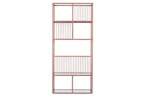Lola Narrow Rose Gold Bookcase