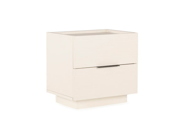 Luke 2 Drawer Bedside Table, White