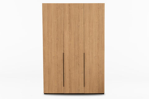 Luke 3 Door Wardrobe, Oak