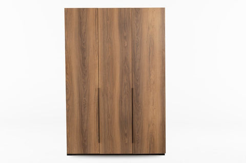 Luke 3 Door Wardrobe, Walnut