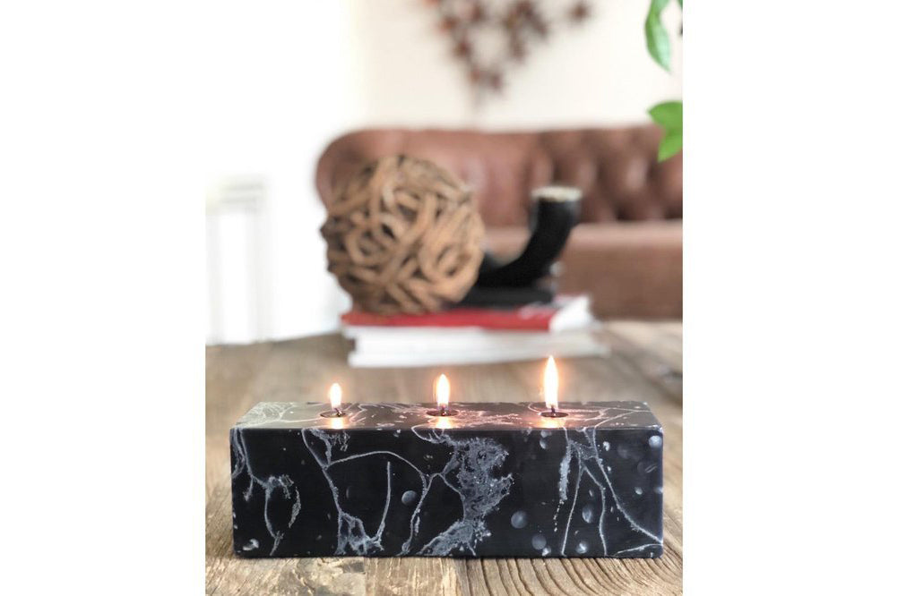 Marble Night Scented Block Candle