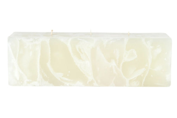 Marble Scented Ecru Block Candle