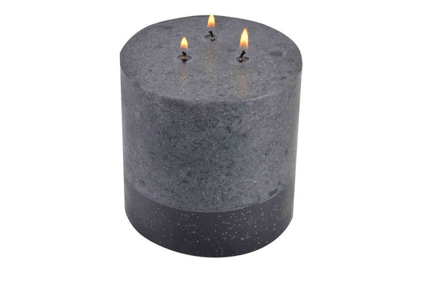Stone Collection Scented Dark Grey Candle