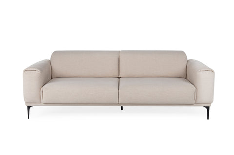 Softy Three Seater Sofa Bed, Beige