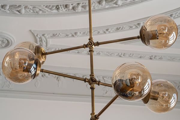 Goldea Six Lights Chandelier