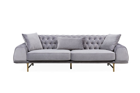 Nepal Three Seater Sofa, Grey