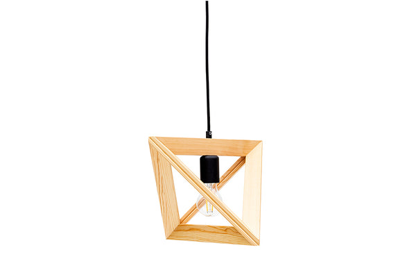 Triangle Wooden Chandelier