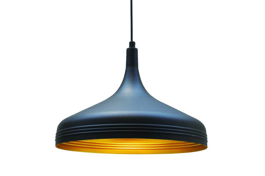 Bailey Retro Pendant, Black