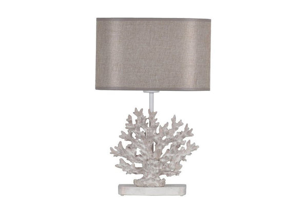 Coral Table Lamp, Antique Gold