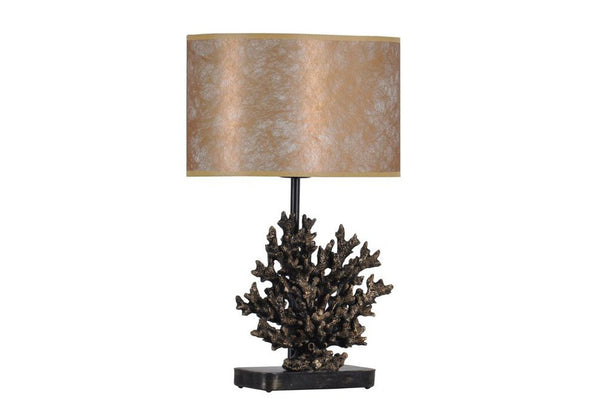 Coral Table Lamp, Bronze