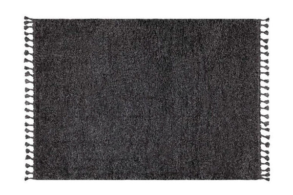 Marrakesh Shaggy Rug, Anthracite Grey